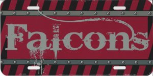 Atlanta Falcons Construction License Plate