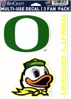 Oregon Ducks 3 Fan Pack Decals