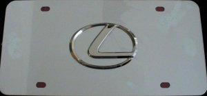 Lexus 3D Stainless Steel License Plate