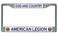 American Legion #4 Chrome License Plate Frame
