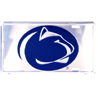 Penn State Anodized Metal License Plate