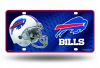 Buffalo Bills White Metal License Plate