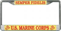 Once A Marine Always A Marine Anodized License Plate Lm91