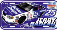 Jerry Nadeau #25 NASCAR Plastic License Plate