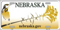 Nebraska Background Metal License Plate