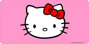 HELLO KITTY Pink Photo License Plate