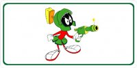 Marvin Martian White Photo License Plate