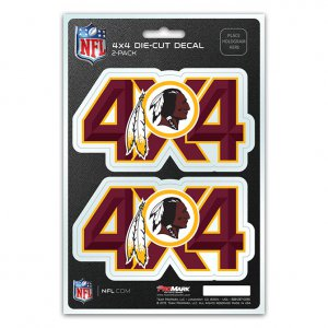 Washington Redskins 4x4 Decal Pack