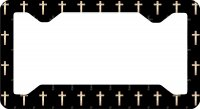 Crosses Thin Style License Plate Frame