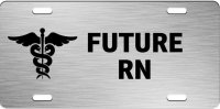Future RN Brushed Aluminum Photo License Plate