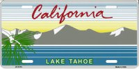 California Lake Tahoe License Plate