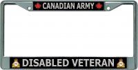 Canadian Army Disabled Veteran Chrome License Plate Frame