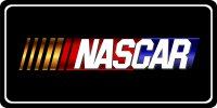 Nascar Black Photo License Plate