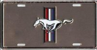 Ford Mustang Anodized License Plate