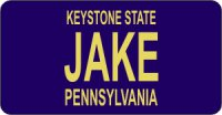 Design It Yourself Pennsylvania State Look-Alike Bicycle Plate#2