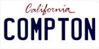 California Compton Photo License Plate