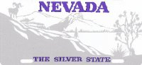 Design It Yourself Nevada State Look-Alike Bicycle Plate