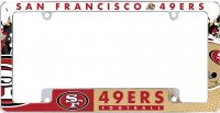 San Francisco 49ers All Over Chrome License Plate Frame