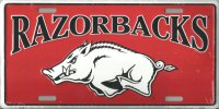 Arkansas Razorbacks College License Plate