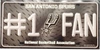 San Antonio Spurs #1 Fan Metal License Plate