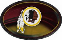 Washington Redskins Chrome Die Cut Oval Decal