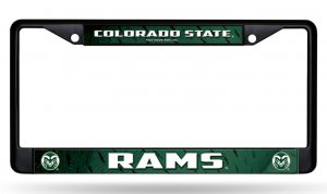 Colorado State Rams Black License Plate Frame