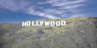 Hollywood Sign On Hillside Scene Photo License Plate