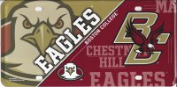 Boston College Eagles Metal License Plate