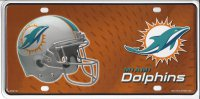 Miami Dolphins Metal License Plate