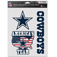 Dallas Cowboys 3 Fan Pack Decals