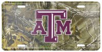 Texas A&M Woodland License Plate