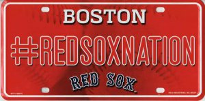 Boston RED SOX #REDSOXNation Metal License Plate