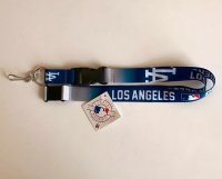 Los Angeles Dodgers Crossover Lanyard With Safety Latch