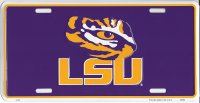 LSU Tigers Purple License Plate