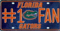 Florida Gators #1 Fan Metal License Plate