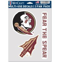 Florida State Seminoles 3 Fan Pack Decals