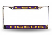LSU Tigers Laser Chrome License Plate Frame