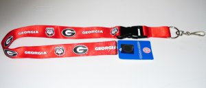 Georgia Bulldogs Lanyard With Safety Fastener