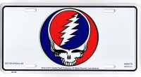 Grateful Dead Steal Your Face Skull Metal License Plate