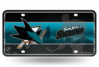 San Jose Sharks Metal license Plate