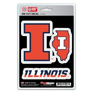 Illinois Fighting Illini Team Decal Set