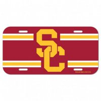 USC Trojans Full Color Plastic License Plate