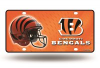 Cincinnati Bengals Metal License Plate