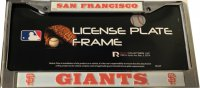San Francisco Giants Chrome License Plate Frame