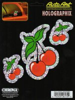 Cherries Holographic 3pc Decal set