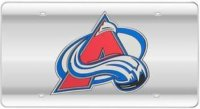 Colorado Avalanche (Silver) Laser License Plate