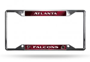 Atlanta Falcons EZ View Chrome License Plate Frame