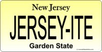 Design It Yourself Custom New Jersey State Look-Alike Plate