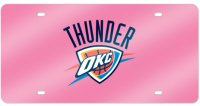 Oklahoma City Thunder Laser License Plate Tag (Pink)