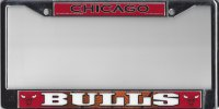 Chicago Bulls Color Chrome License Plate Frame